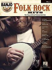 FOLK/ROCK HITS BANJO PLAY-ALONG TAB SHEET MUSIC SONG BOOK W/CD