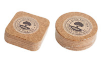 Set Of 6 Natural Cork Coasters Round or Square
