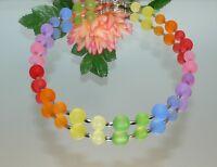 Halskette Kette Kugel rot grün blau gelb mehrfarbig bunt multicolor 345Q