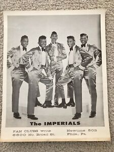 The Imperials (Little Anthony & the...) 1962 Promotional Photos Newtown Records