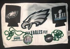 Eagles Super Bowl 52 LII Beer Koozie Towel Necklace Minnesota X 2