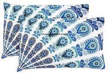 2 PC Indian Mandala Ethnic Cushion Cover Pair of Cotton Pillow Case Bohemian Art