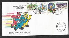 (FDC89014) MALAYSIA 1989 SEA Games XV Kuala Lumpur RARE Sarawak pmk FDC