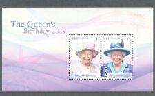 Australia-Queens Birthday 2019-Royalty min sheet mnh
