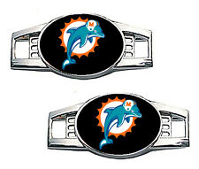 Miami Dolphins Shoe Charms / Pair of 2
