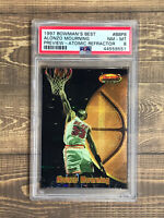 1997/98 BOWMAN'S BEST ALONZO MOURNING ATOMIC REFRACTOR #BBP8 PSA 8