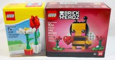 LEGO 40187 Flower Display and 40270 Valentine 's Bee Brick Headz Seasonal NEW