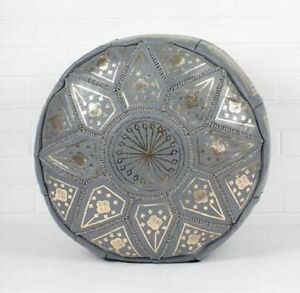 Brand New Moroccan Leather Pouf Pouffe Footstool  Ottoman or use as Coffee Table