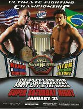 2003 UFC 46 MMA RANDY COUTURE VS VITOR BELFORT POSTER/HANDBILL
