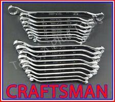 CRAFTSMAN TOOLS 18pc FULL POLISH SAE METRIC MM Deep Offset Box end Wrench set