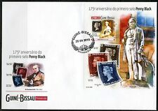 GUINEA BISSAU  2015  175th ANNIVERSARY PENNY BLACK  SOUVENIR SHEET FIRST DAY COV