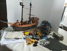 Playmobil Geobra Pirate Ships Sets 3050 & 5778 With Pirates. Incomplete.