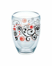 Tervis  9 oz. Berry Swirlwind  Wine Tumbler  Clear