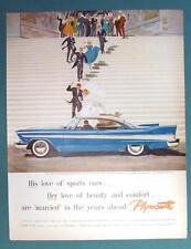 Orig 1957 Plymouth Belvedere Sports Sedan AD Sports Car & Comfort Love Married