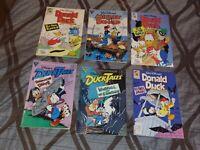 DONALD DUCK ADVENTURES & DUCKTALES LOT OF 6 COMIC BOOKS