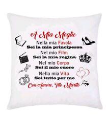 cuscino A mia moglie... dedica d'amore da tuo marito, San Valentino completo