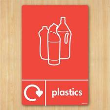 Plastics Sign A5 148x210mm Self-adhesive Vinyl Sticker WRAP Recycle Now