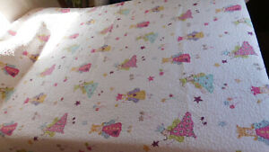 Vintage Laura Ashley Quilt-Fairies-Pink Green-Happy Colors! All 100% Cotton