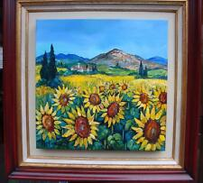 ACCEPTING BEST OFFERS!LOVELY FRENCH ORG PROVENCE SUNFLOWER PAINTING BETTY WITTWE