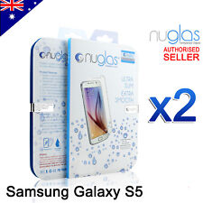 2x GENUINE NUGLAS Premium Tempered Glass Screen Protector For Samsung Galaxy S5