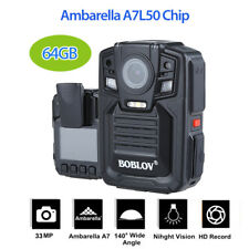 Ambarella  A7L50 Police Body Worn Camera 64GB DVR HD 1296P Night Vision 140°