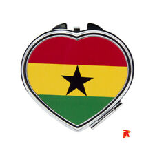 Ghana Flag design Oval Shaped Compact Mirror
