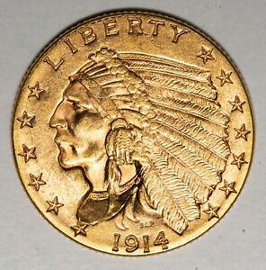1914 $2.50 Indian Gold Quarter Eagle Item#P13963