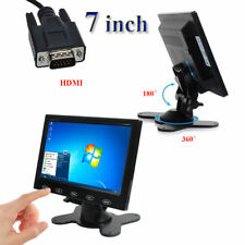 "7"" TFT LCD CCTV Monitor PC Screen AV RCA VGA HDMI w/ Speak for DSLR Raspberry PI"