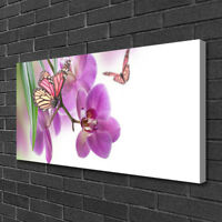 Schmetterlinge auf Lavendelblumen Kunst Buntstift Effekt Leinwandbild Wanddeko K