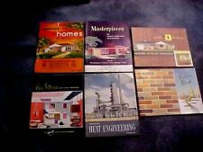 All Vintage Lot of 6 Books Designs for Moderate Cost One-Family Homes + More