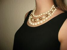 NWT Kate Spade Parlour Pearls Triple Strand Necklace Cream Multi