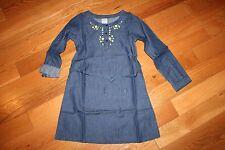 NWT Gymboree Cozy Ski Lodge Size 8 Blue Chambray Denim Gem Neck Dress