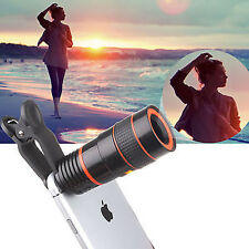 Clip-on 8x Zoom Optical Telescope Camera Lens Universal for iPhone 6s Smartphone