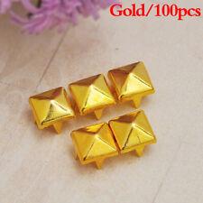 100 Pcs Metal Spikes Rivet Square Pyramid Studs Garment Four Claw Accessories