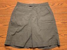 Men's Patagonia Thrift Seersucker Shorts Size 30 Grey/Black Style #57627