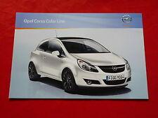 """Opel Corsa D """"Color Line"""" modelos especiales folleto + lista de precios de 2009"""
