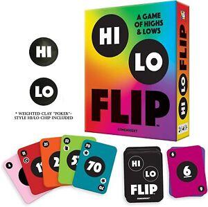 Hi Lo Flip Card Game