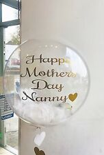 Personalised Feather Filled Clear Balloon Wedding, Christening Party Baby Shower