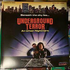 "Underground Terror - 12""  Laserdisc Buy 6 for free shipping"