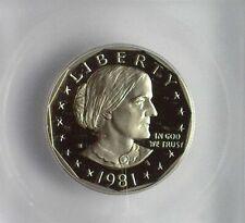 1981-S SUSAN B. ANTHONY DOLLAR - TYPE 2 - ICG PR70 DEEP CAMEO LISTS FOR $425!