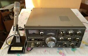 NICE KENWOOD TS-520S HF TRANSCEIVER WITH KENWOOD MC-50 MIC