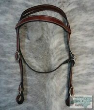 BURGUNDY Leather Western Draft Horse Size Headstall! MADE IN THE USA! NEW TACK