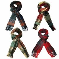 Itzu Co. Unisex Soft Feel Multi Check Plaid Lumberjack Tartan Scarf
