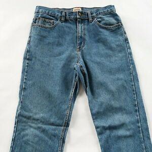 Schmidt Work Wear Mens Straight Leg Medium Wash Denim Jeans Tag 34x36 Fits 34x34