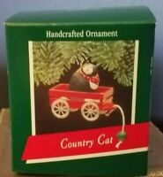Hallmark Keepsake Ornament Country Cat 1989 Christmas