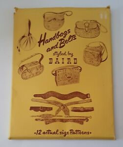 Vintage 1951 Leather Craft Instructions Hangbags Belts by Baird Manitou Springs