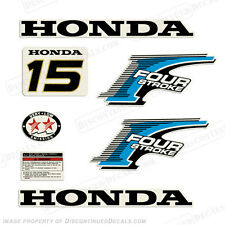 New Style! Honda 15hp 4-Stroke Outboard Decal Kit - Reproduction Decals in Stock