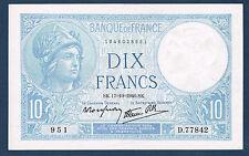 FRANCE - 10 FRANCS MINERVE Fayette n° 7.17 du 17=10=1940.SK en SPL  D.77842 951