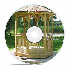 Custom Design Gazebo Plans, 8ft Octagon Plans, DIY Blueprints, Backyard Projects