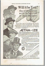 Vintage, Original 1915 - Aetna Life Insurance Company Advertisement